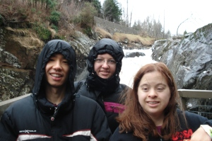 Junichi, Becky & Maureen at High Falls Gorge