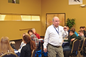 Richard Cardillo facilitates discussions on measuring school climate.