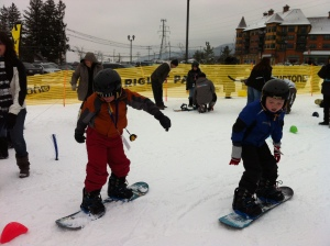 Young Athletes experience snowboarding for the first time!
